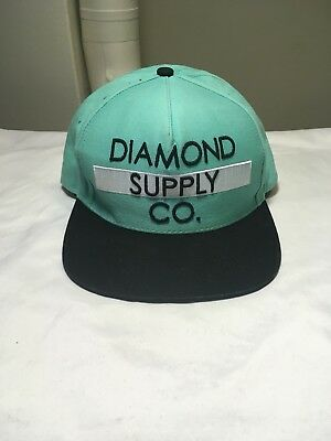 Diamond Supply Co Snapback Hat Headwear Cap Skatewear Lid Mens Aqua blue ef36b39e217