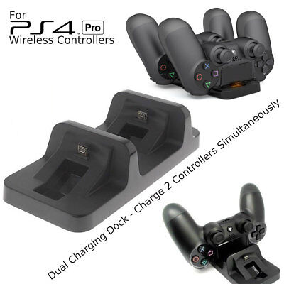PS4 Pro Charging Charger Dock Station Stand for Playstation 4 Pro Controller Pad