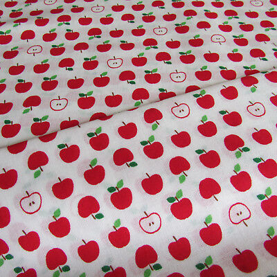 Apples Japanese 100% cotton quilting & patchwork fabric by Sevenberry per FQT