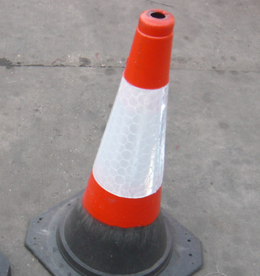 750mm 1 piece self weighted road traffic cones pack of 10