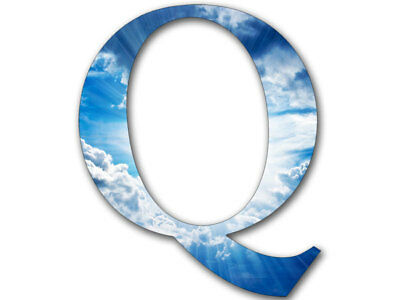 4x4 inch Q Shaped SKY Sticker - heaven hope made qanon clouds conservative trump
