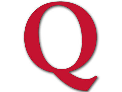4x4 inch RED Q Shaped Sticker -usa made qanon conservative trump american reddit