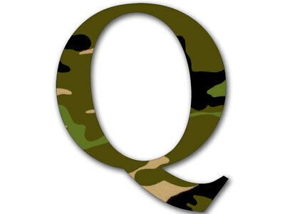4x4 inch Q Shaped CAMO Sticker -usa camouflauge qanon conservative trump reddit