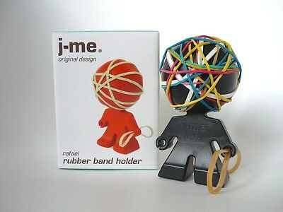 Original J-Me Rafael Designer Gummibandhalter Rubber Band Holder Black London