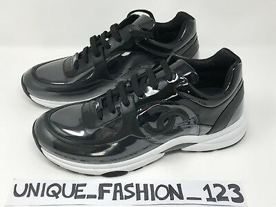 f923f82326f6 Chanel Men s Trainers Sneakers Cc Runner Us 11 Uk 10 44 Black Patent  Transparent