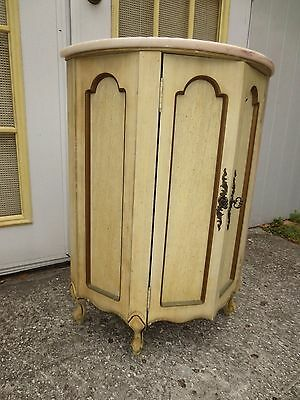 French Provincial Console Table Half Moon Hollywood Regency Country Victorian