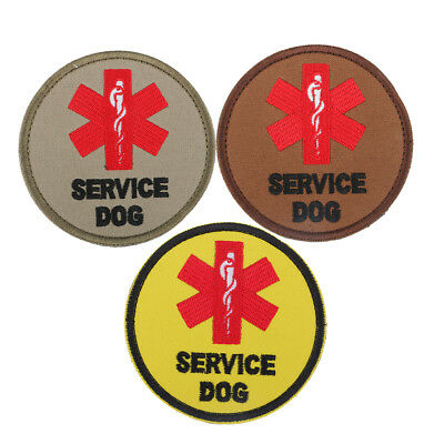 Prettyia Service Dog Embroidered Patches for Clothing Sew on Jeans