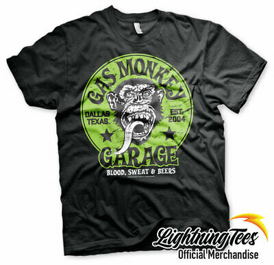 Official Gas Monkey Garage Green GMG Fast N Loud T-Shirt
