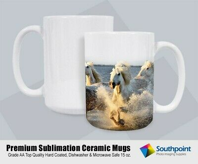Sublimation Ceramic Mugs 15oz Grade A White Pearl Coat Mug Blanks