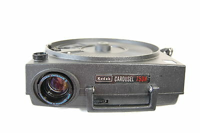 Vintage Kodak Carousel Projector 750H with lens and remote for parts or repairs