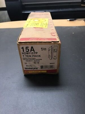 New (10) Pack Square D HOM115TP Plug-On Circuit Breaker