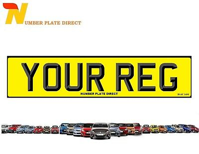 REAR Number Plate 3D Font Car 100% MOT Compliant & UK Road Legal Registration