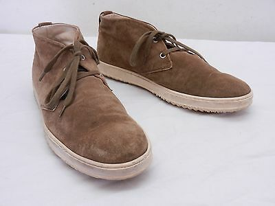 e4d15dd346 HOGAN Mens UK 7 US 8 Brown Suede Chukka Laced Hi-Top Sneaker Ankle Boots