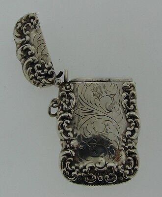 GORGEOUS Sterling Silver Match Case Circa 1900s