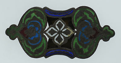 C.1900 Russian Silver Enamel Belt Buckle Stamped Unique Collectible Rare