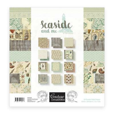 """~ SEASIDE AND ME ~ 24 Patterned Papers Pack 12"""" x 12"""" by Couture Creations"""