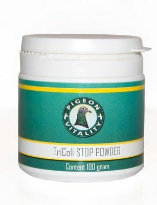 Pigeon Product - Tricoli-STOP Powder 100gr - Canker and E-coli - Pigeon Vitality