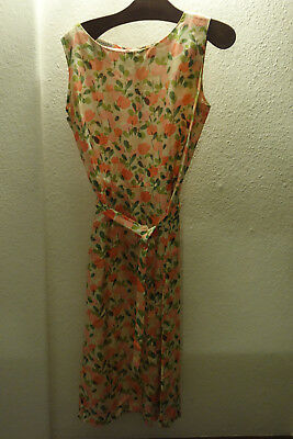 True Vintage 40er 50er 60er Kleid Sommerkleid USA Tanner of North Carolina Seide