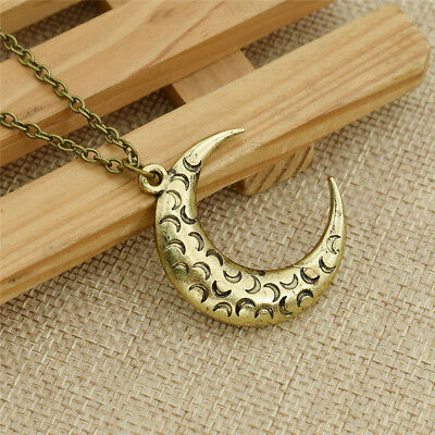 Women Anime Sailor Moon Necklace Meniscus Pattern Pendant Long Chain Accessories