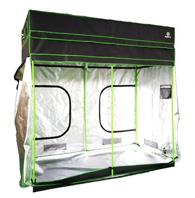 Fusion Hut 1680D Height Adjustable Mylar Grow Tent Grow Box Grow Room 7' to 8'