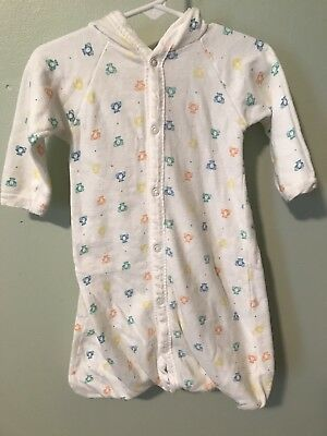 Healthtex Vintage Infant Sleeper Girl Or Boy Unisex Baby Layette Gown 6-9 months