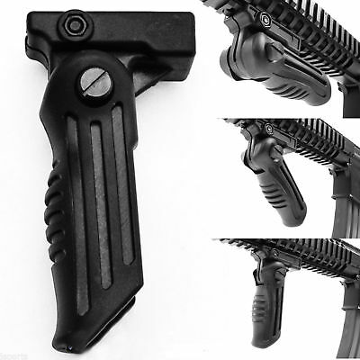 Tactical Folding Foregrip Hand Vertical Fore Grip Picatinny Weaver 20mm Rail