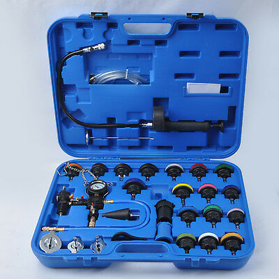 Cooling System Radiator Pressure Tester Kit Coolant Purge/Refill Adapter W/Case