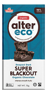 Organic Chocolate - Super Blackout 75g - Alter Eco