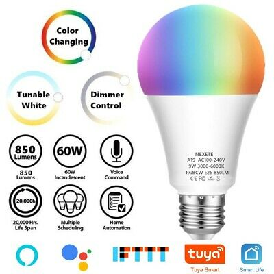 Wifi Smart LED light Bulb 10W A21 RGB Dimmable for Amazon Alexa/Google Home