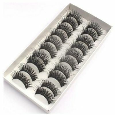 10 Pairs Mink Lashes 3D False Eyelashes Long Lasting Lashes Natural Lightweight