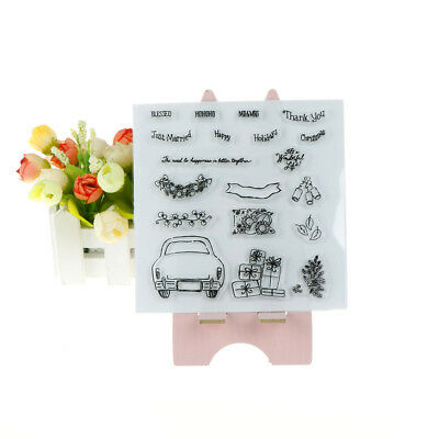 Just Married Transparent Silicone Clear Stamps for Scrapbooking Album Cards  X