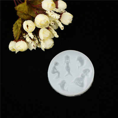 Mermaid Silicone Cake Crystal Pendant Mold Resin Pendant Jewelry Making Tools  X