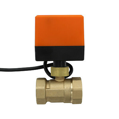 Electric Motorized Ball Valve BSP AC 220V AC24V DC12V DC24V 2 Way Brass  valve