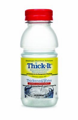 Thick-It Aquacare H2O Honey Consistency Thickened Water Beverage, 8oz (PK of 24)