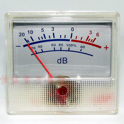 White Panel VU Meter 0-500uA 650 Ohm -20~+6dB DB Power Amplifier Audio Backlight