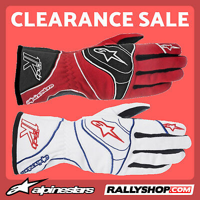 ALPINESTARS TECH 1-K Karting Gloves Red, White kart race CLEARANCE SALE !