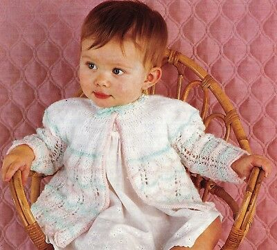 bd10a01ad BABY KNITTING PATTERN vintage baby matinee jackets 4ply 17  19 in ...