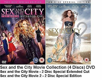 Sex And The City The Movie 1 2 - Double Pack 2 Films New Sealed Uk Region 2 Dvd