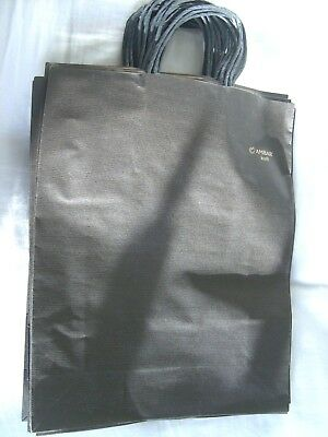 Black Colour Kraft Twisted Handle Paper gift shopping Bags pack of 17 L size