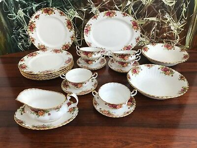 ROYAL ALBERT England OLD COUNTRY ROSES, edles 23- tlgs Speiseservice / 6 Pers.