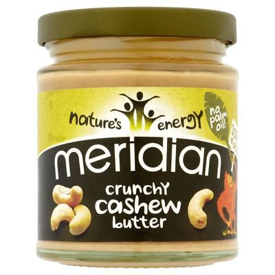 Meridian Foods Crunchy Cashew Butter 100% Nuts (170g) - Pack of 6