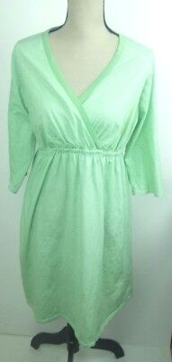 Motherhood Sleepwear Women's Size 1X Sleep Dress Nightgown Green White Stripe