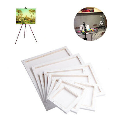 KF_White Blank Rectangle Canvas Board Wooden Frame Art Artist Oil Acrylic Paints