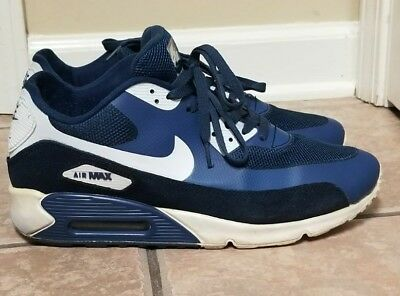 best authentic 9c856 be104 Nike Air Max  90 1990 Mens Hyperfuse Navy Blue Gray Shoes Sneakers Size 12