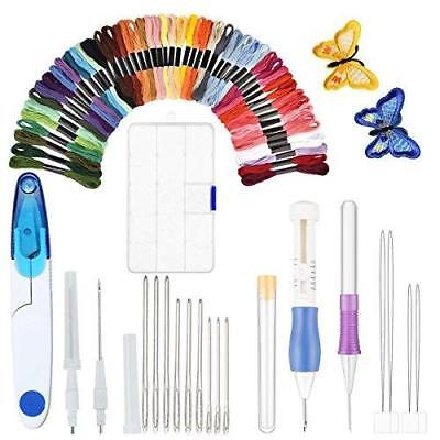 Embroidery Pen Kit, Punch Needle Craft Tool Embroider Textiles Sewing Set New