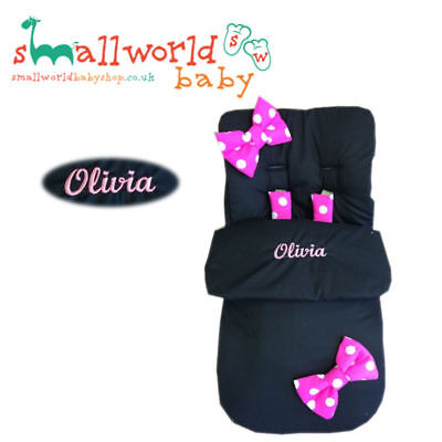 Universal Footmuff Cosy Toes Personalised Pram Pushchair Buggy Girls Boys