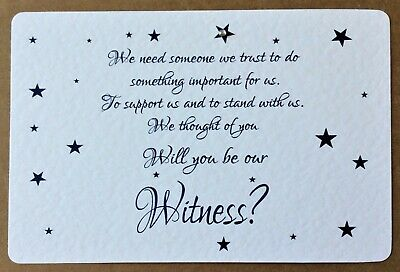 WILL YOU BE MY Witness / Mother of the Bride /Parents of Groom card - STAR BLUE