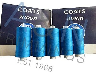 Coats Moon Tkt120 Box Of 10*1000 Yard Reels Colours Spun Polyester Sewing Thread
