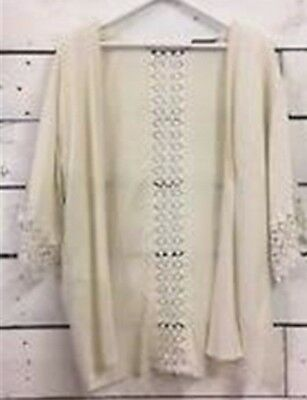 Mothercare Blooming Marvellous Maternity Cream Crochet Kimono Jacket Size Large