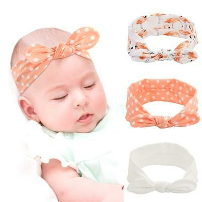 QtGirl 3PCS Baby Girl Headband Knotted Head Wrap Hairband Hair Accessories for